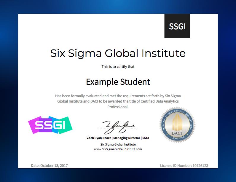 Data Analytics Certification Training Online Ssgi