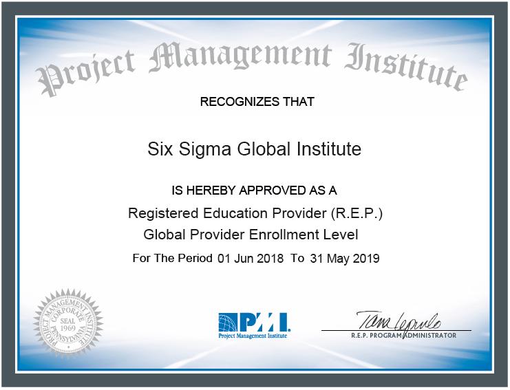Pmi Rep Six Sigma Global Institute Project Management Institute