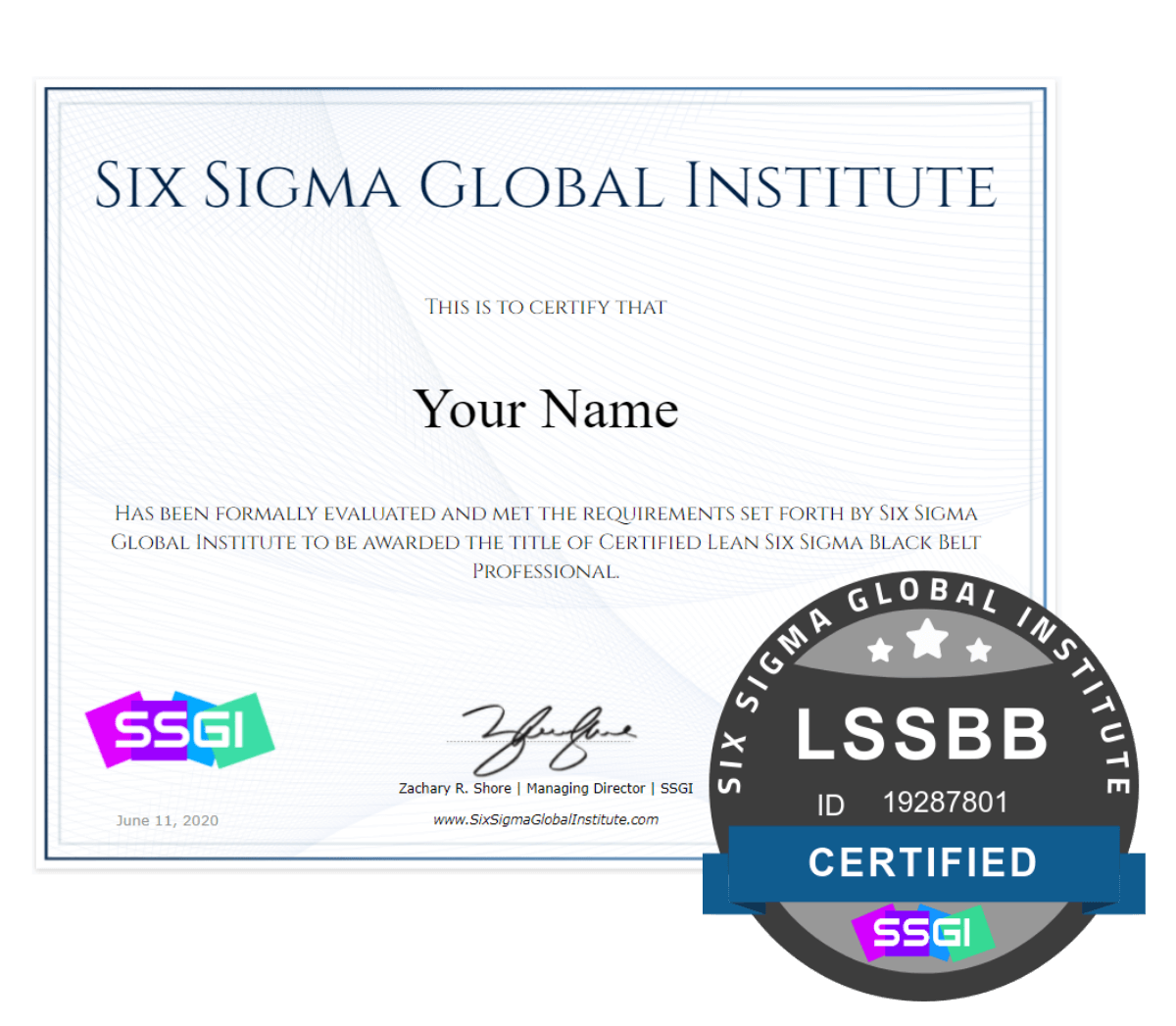 SSGI Lean Six Sigma Black Belt Certification